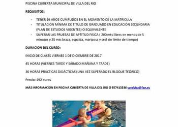 Curso de monitor de Natación en Villa del RIo