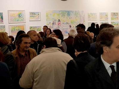 Juan Cantabrana, una inauguración llena de colorido y asiste ...
